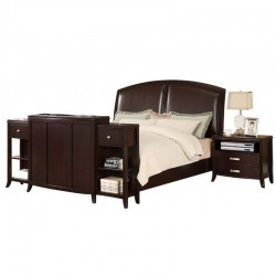 Tyler Espresso King Bed with TV Lift